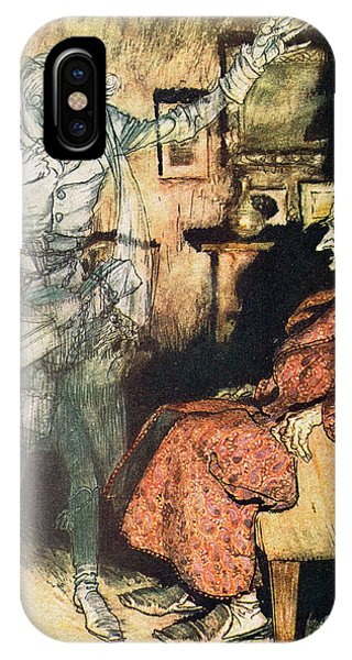 Interior iPhone Case - Scrooge And The Ghost Of Marley by Arthur Rackham