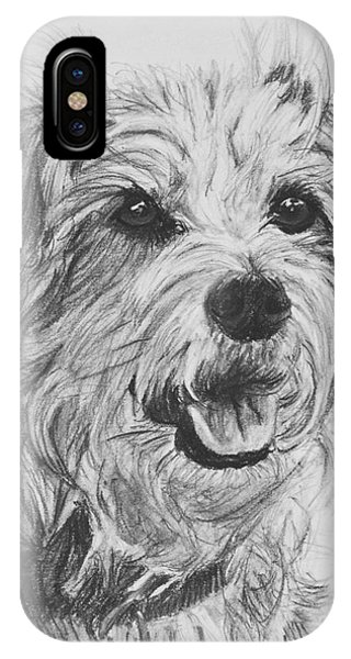 Scruffy Terrier Dog Drawing IPhone Case