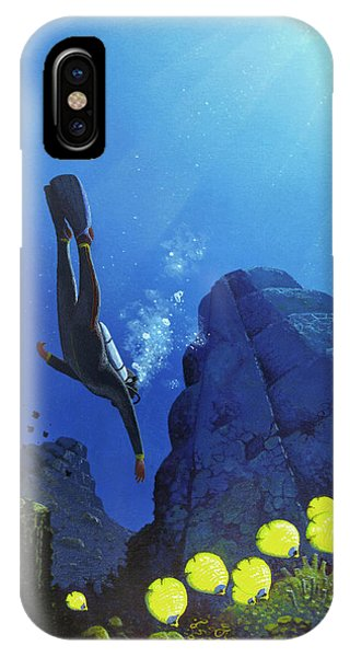 Scuba Diving iPhone Case - Scuba Diving by Mark Garlick/science Photo Library