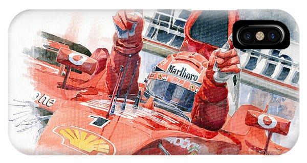 Automotive iPhone Case - 2001 Scuderia Ferrari Marlboro F 2001 Ferrari 050 M Schumacher  by Yuriy Shevchuk