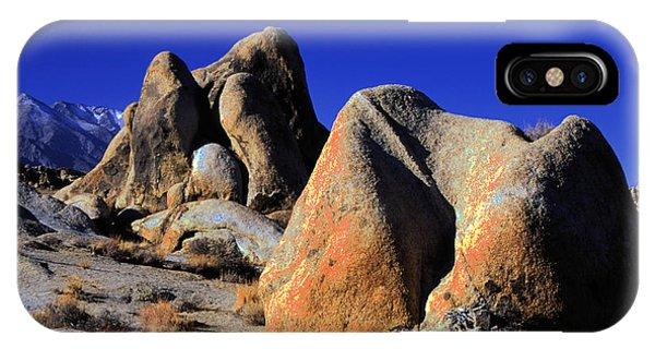 Sculpted Rock Alabama Hills IPhone Case