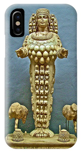 Sculpture Of Artemis-goddess Of Fertility In Ephesus Museum-turkey IPhone Case