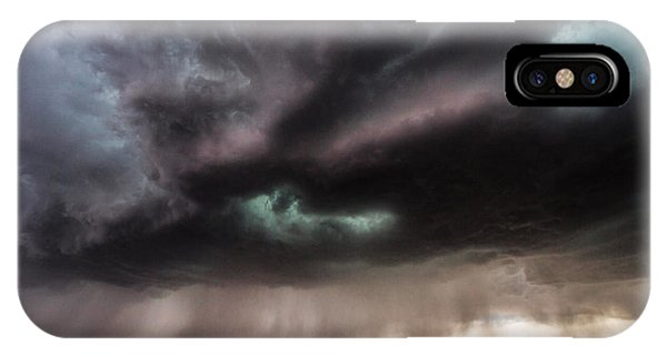 Teal iPhone Case - Sculpture - Turquoise Colored Storm Over Kansas Plains by Southern Plains Photography