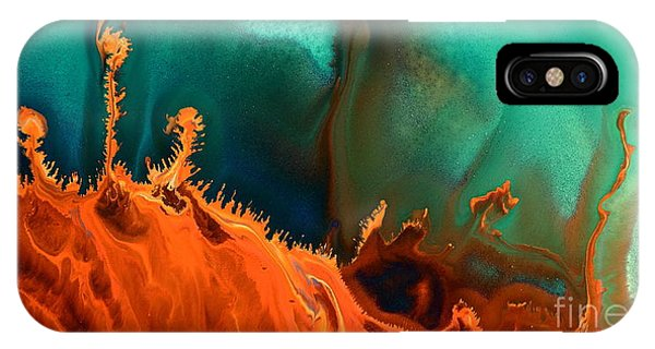 Sea Anemone - Contemporary Abstract Fluid Art By Kredart IPhone Case