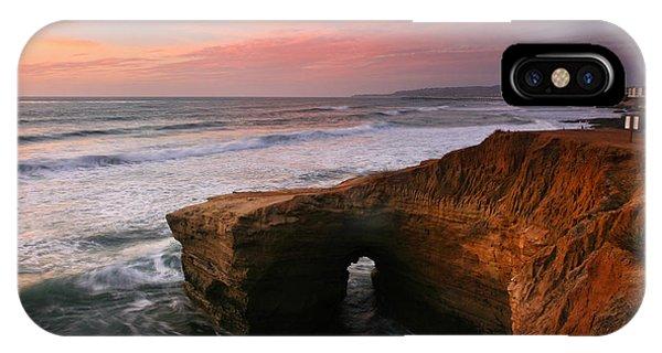 Sea Arch Winter Sunset IPhone Case