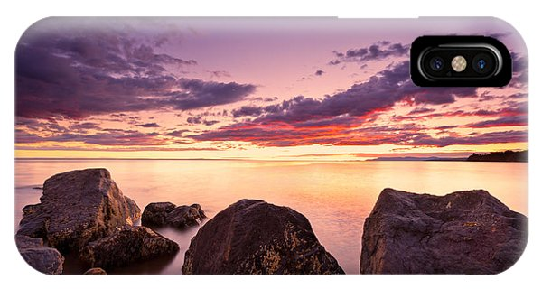 Sea At Sunset The Sky Is In Beautiful Dramatic Color IPhone Case