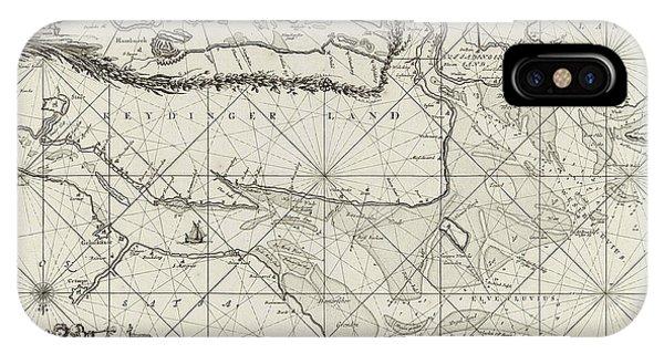 Sea Chart Of Part Of The Elbe, The Weser And Jadebusen Phone Case by Jan Luyken And Johannes Van Keulen I
