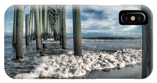 Sea Foam And Pier IPhone Case