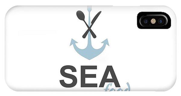 Ship iPhone Case - Sea Food Logo by Jelenaa