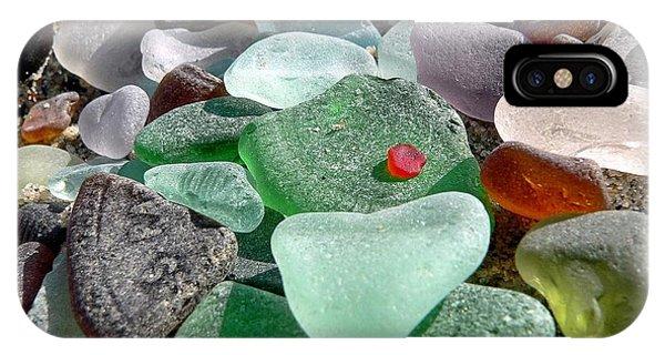 Sea Glass In Multicolors IPhone Case