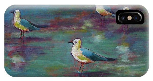 Sea Gulls Beach Bums IPhone Case