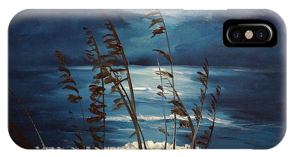 Sea Oats And Moonlight IPhone Case