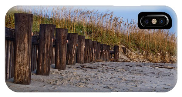 Sea Oats And Pilings IPhone Case