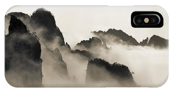 Mountain iPhone X Case - Sea Of Clouds by King Wu