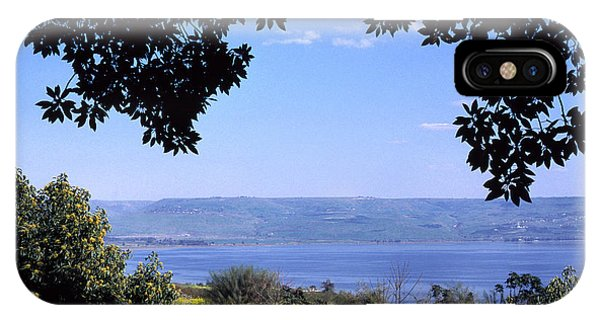 Sea Of Galilee From Mount Of The Beatitudes IPhone Case