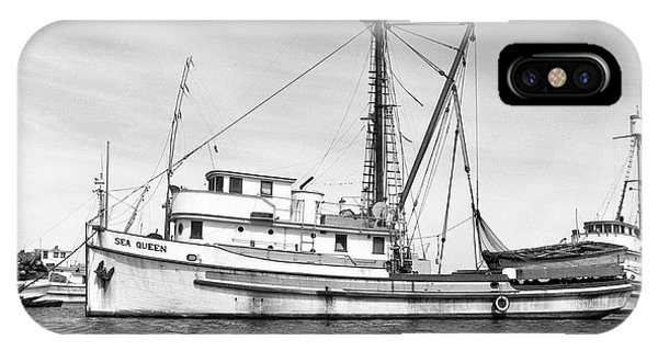 Purse Seiner Sea Queen Monterey Harbor California Fishing Boat Purse Seiner IPhone Case