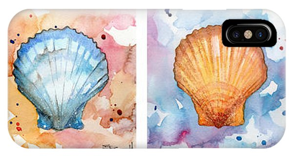 Sea Shells In Contrast IPhone Case