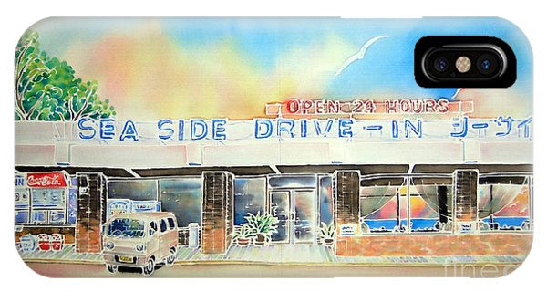 iPhone Case - Sea Side Drive In by Hisayo Ohta