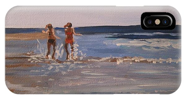 Sea Splashing On The Beach IPhone Case