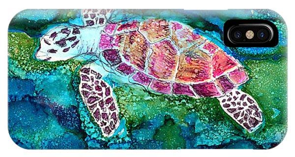 iPhone Case - Sea Turtle by Alene Sirott-Cope