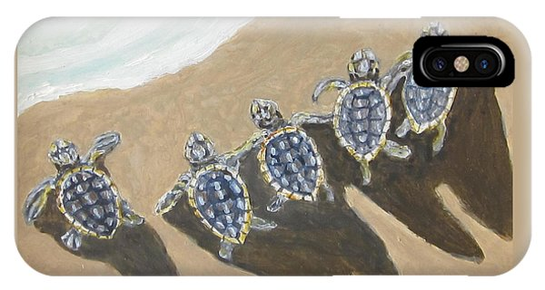 Sea Turtle Babes IPhone Case