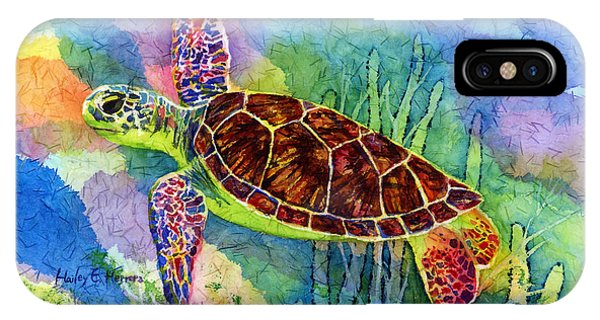 Decor iPhone Case - Sea Turtle by Hailey E Herrera