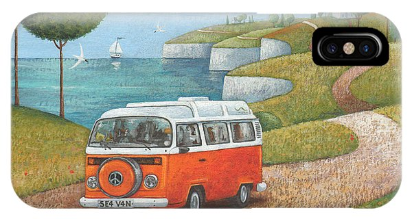 Caravan iPhone Case - Sea Van Variant 1 by MGL Meiklejohn Graphics Licensing