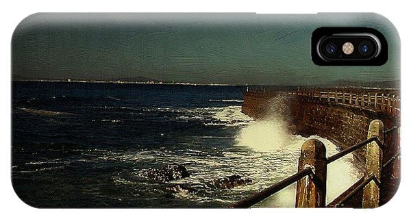 Sea Wall At Night IPhone Case