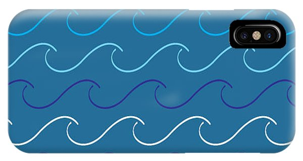 Textile Design iPhone Case - Sea Waves Pattern by Charles Whitefield