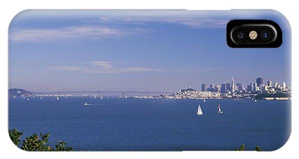 Sea With The Bay Bridge And Alcatraz IPhone Case