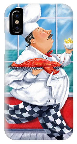 Italy iPhone Case - Seafood Chefs-live Lobster by Shari Warren