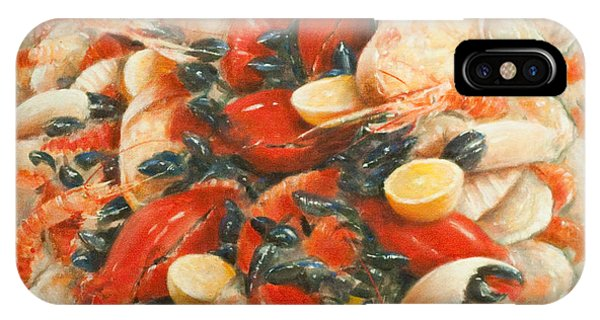 Protein iPhone Case - Seafood Extravaganza by Lincoln Seligman