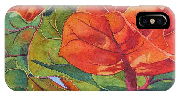 Seagrape Leaves IPhone Case