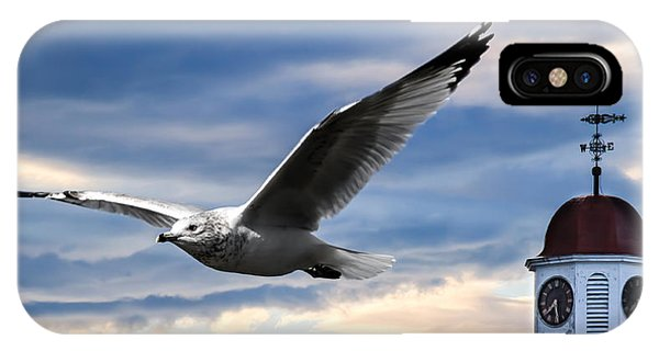 Seagull And Clock Tower IPhone Case