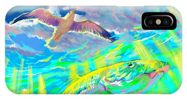 Dive iPhone Case - Seagull Over The Flats  by Yusniel Santos