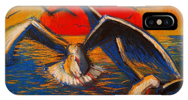 Seagulls At Sunset IPhone Case