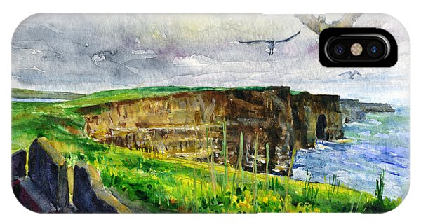 Seagulls At The Cliffs Of Moher IPhone Case