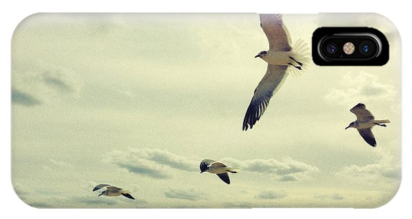 Seagulls In Flight IPhone Case