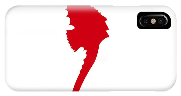 Seahorse In Red IPhone Case