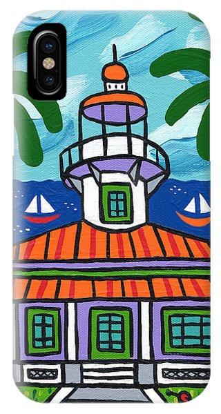 Seahorse Key Lighthouse IPhone Case