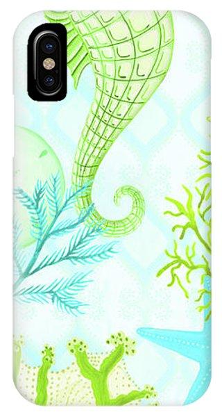 Reef iPhone Case - Seahorse Reef Panel I by Andi Metz