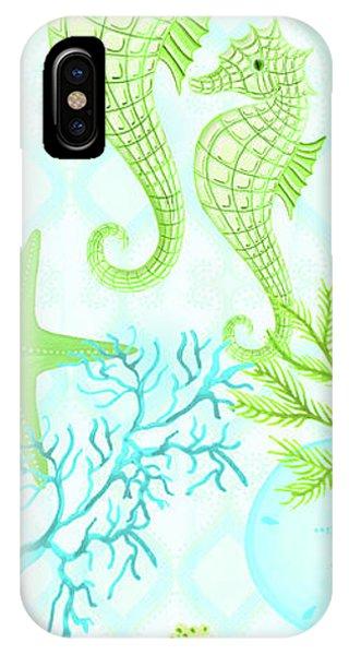 Seahorse iPhone Case - Seahorse Reef Panel II by Andi Metz