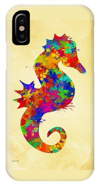 Seahorse Watercolor Art IPhone Case