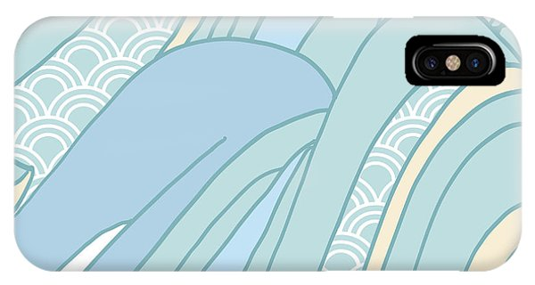 Ripples iPhone Case - Seamless Japanese Pattern In Pastel by Hasselnott