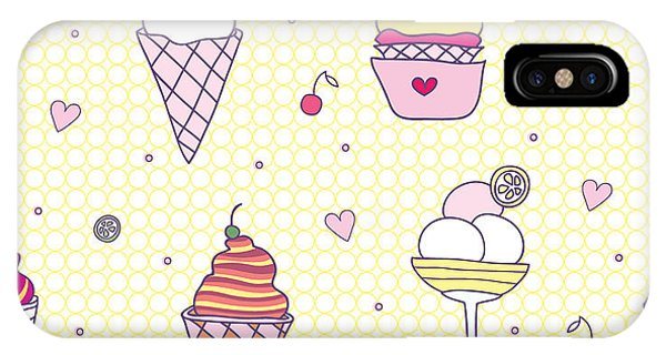 Freeze iPhone Case - Seamless Pattern Delicious Ice Cream by Natalia Flurno