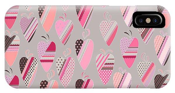 Romance iPhone Case - Seamless Pattern With  Vintage Tilda by Anna Tyukhmeneva
