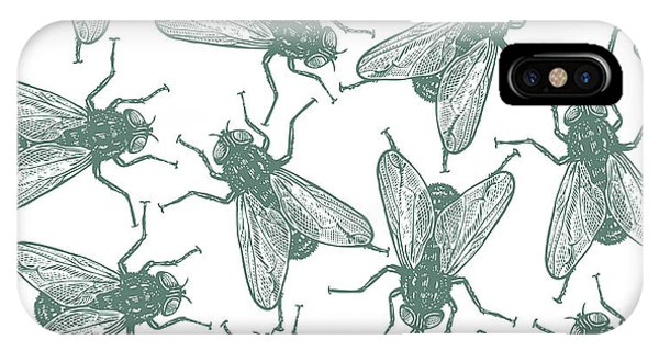 Seamless iPhone Case - Seamless Vector Flies Pattern In by Lestyan