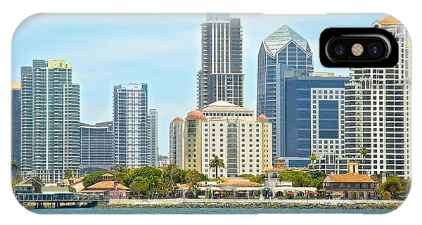 Seaport Village And Downtown San Diego Buildings IPhone Case