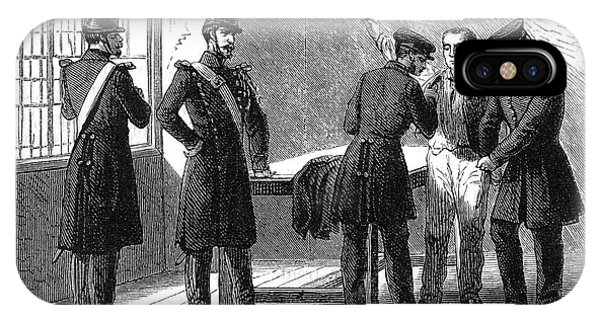 Searching A Suspect At A Prefeture Phone Case by Mary Evans Picture Library