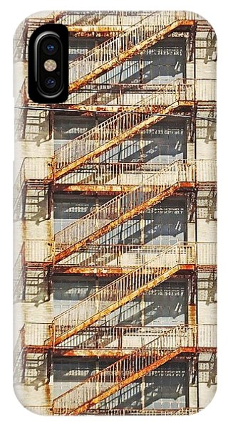 Sears Crosstown Fire Escape Memphis Tn IPhone Case